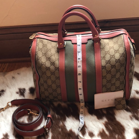 ce92a8865b5 Gucci Handbags - Gucci Vintage Web Boston Bag